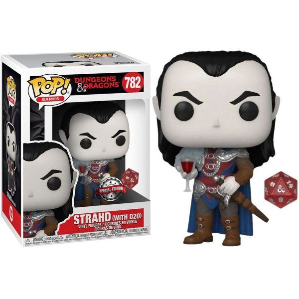 Figura POP & Die Strahd with D20 Dungeons & Dragons Exclusive