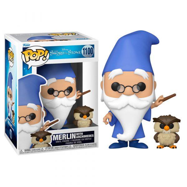 Figura POP Disney Merlin el Encantador Merlin with Archimedes