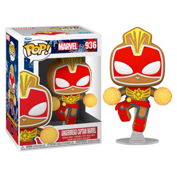 Figura POP Marvel Holiday Captain Marvel