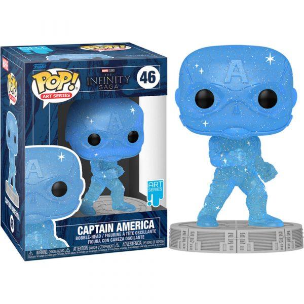 Figura POP Marvel Infinity Saga Capitan America Blue